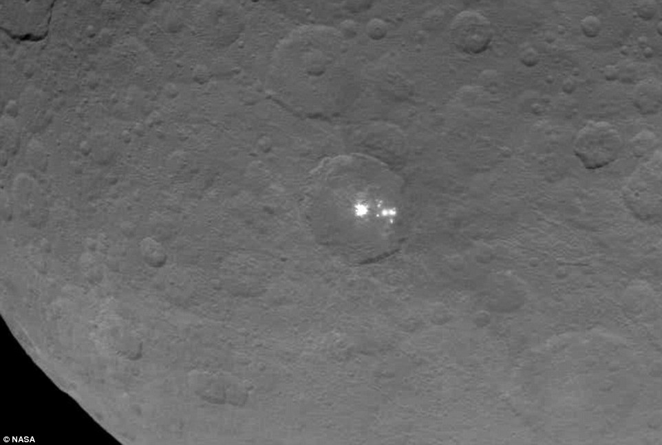 Over the weekend, Dawn swooped down to a distance of 4,500 miles (7,200km) above Ceres' surface to capture the bright flashes in detail