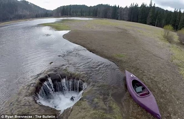 During winter, a mysterious hole begins draining the Lost Lake in Oregon of all its water, leaving a barren landscape that has baffled scientists for centuries