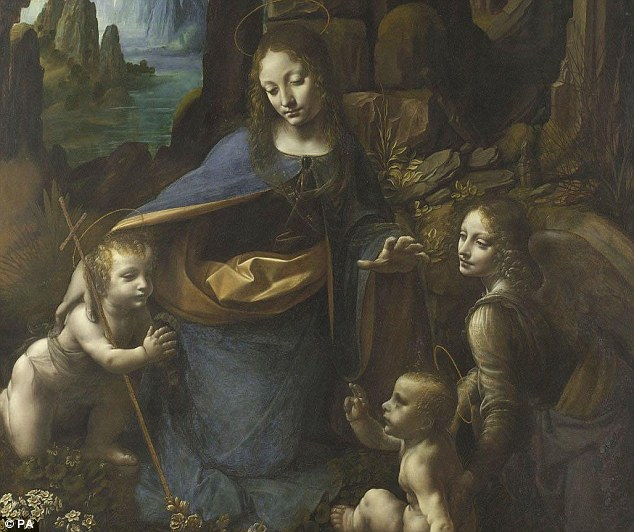 Researchers believe da Vinci may have first attempted the technique even earlier in his 1483 work 'Virgin of the Rocks' (pictured)