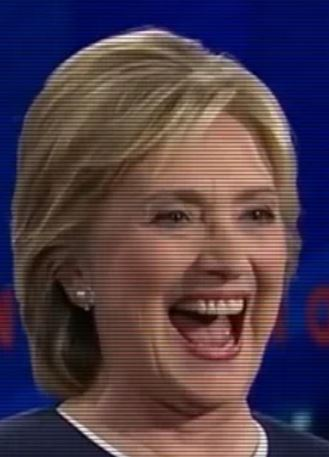 Hillary Laughing
