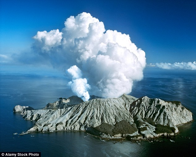 There are several other volcanoes across New Zealand, including the volcano on the White Island (pictured)