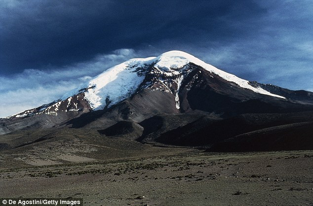 When measuring from the equator, Mount Chimborazo in Ecuador is the highest mountain on Earth, whose apex rises 3,967 miles from the Earth's centre