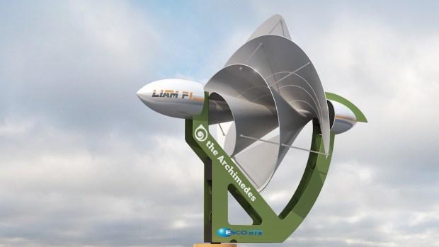 Pequeño aerogenerador urbano que puede hacer a los hogares energéticamente autónomos