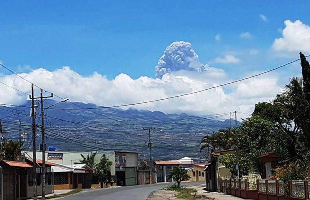 Explosion at Turrialba Volcano. Sept. 19, 2016.