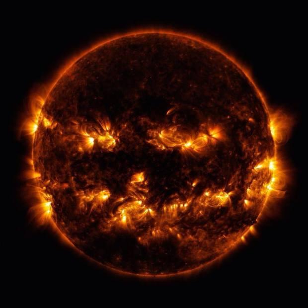 Solar Flares Jack-O-Lantern