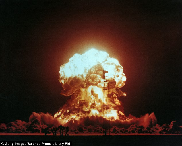Donald Trump caused a Doomsday Clock symbolising the threat of apocalypse to move closer to midnight. The new 'time', two and a half minutes to midnight, is the closest the planet has been to an apocalypse since 1953 - mainly due to the threat of nuclear warfare. Stock image