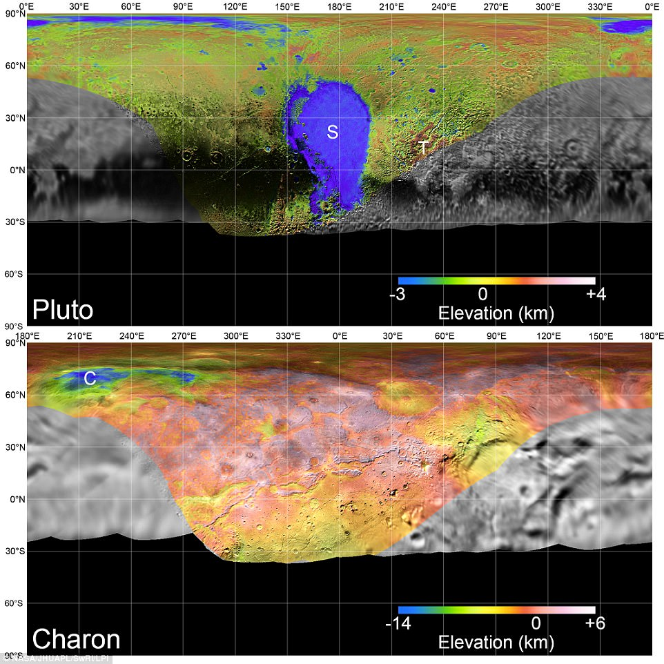 Throughout the years, the craft has collected countless observations of the tiny planet and its moons, offering a remarkable look at the landscape of these distant worlds. In recognition of the two-year anniversary of New Horizons' Pluto flyby, NASA also revealed a stunning set of global elevation maps, showing the complex terrain of Pluto and Charon