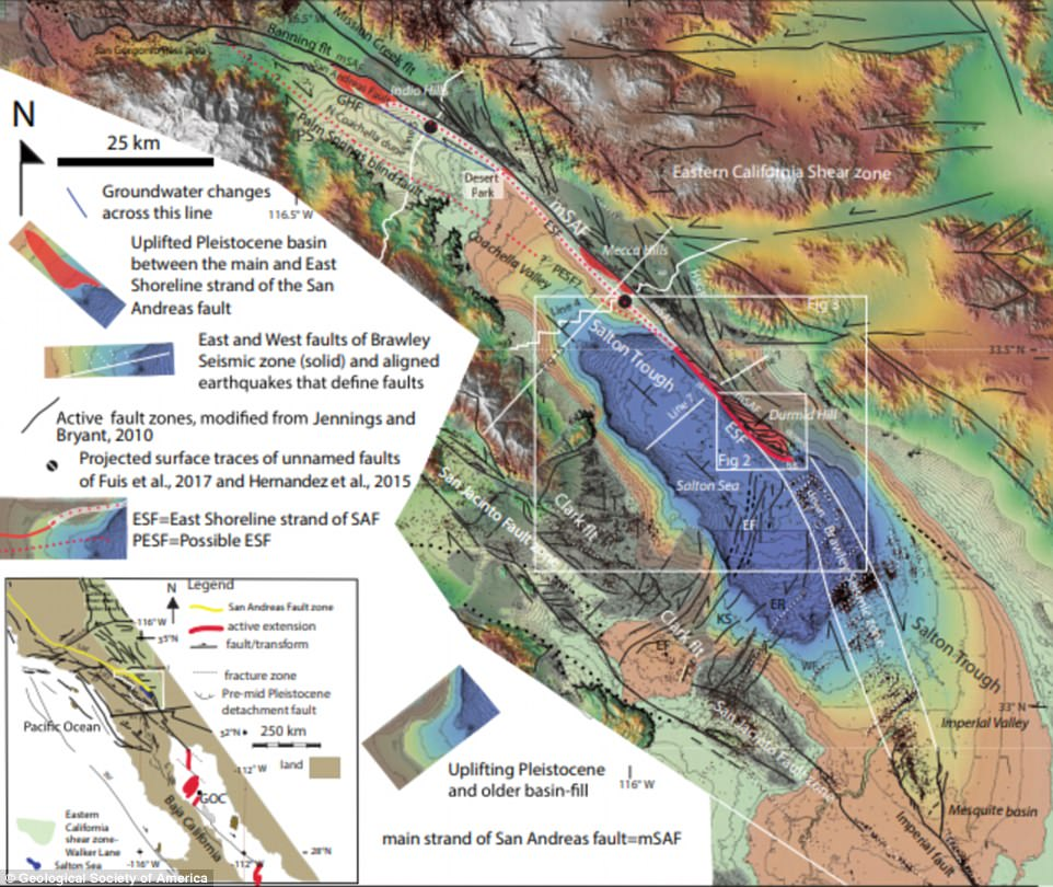 A tectonic time bomb that threatens to set off a huge earthquake under California may be triggered by a newly discovered structure in the San Andreas fault. Expertsuncovered a 15 mile (25 km) long formation, dubbed the Durmid ladder structure
