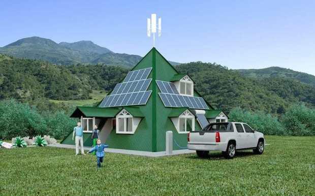 Casa del Futuro: Piramidal, anti sísmica, eficiente y auto abastecida con energías renovables