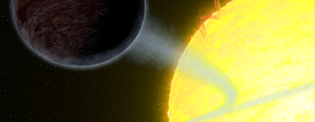 NASA's Hubble Captures Blistering Pitch-Black Planet