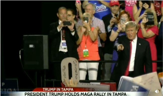Trump-points-at-Q-Sign-holder